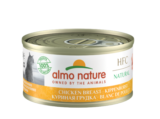 Almo Nature HFC Natural cat kananrinta 70g, kissan märkäruoka.