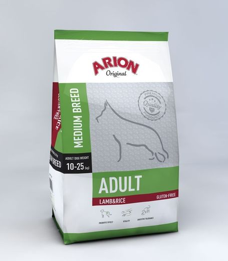 Arion Original Adult Medium Lammas & Riisi 3 kg koiranruoka
