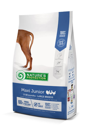 Natures Protection Super Premium Maxi Junior (2-18 kk) Siipikarja 4kg koiranruoka pennuille