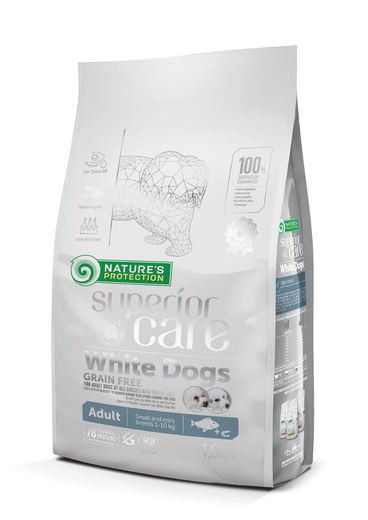 Natures Protection Superior Care White Adult Vaalea kala 1,5 kg koiranruoka