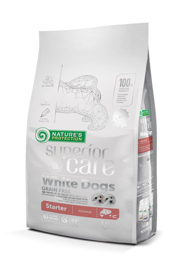 Natures Protection Superior Care White Starter Lohi 1,5 kg koiranruoka pennuille