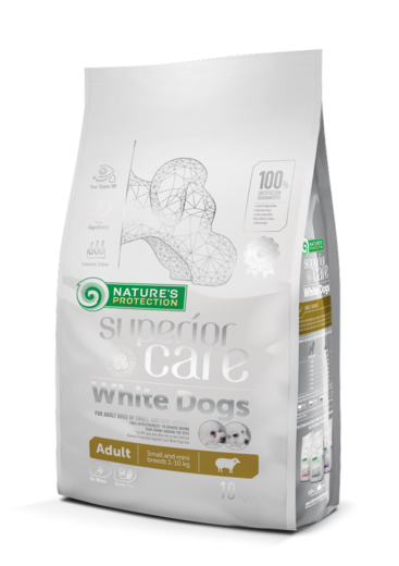Natures Protection Superior Care White Adult Lammas 10 kg  koiranruoka vaaleille koirille